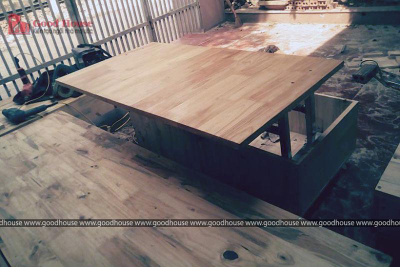 bàn gỗ ghép thanh