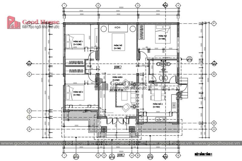mb mẫu thiết kế nhà cấp 4 100m2 3 phòng ngủ